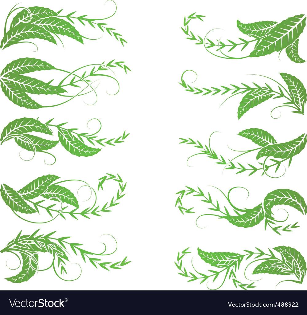 Diagonal foliage