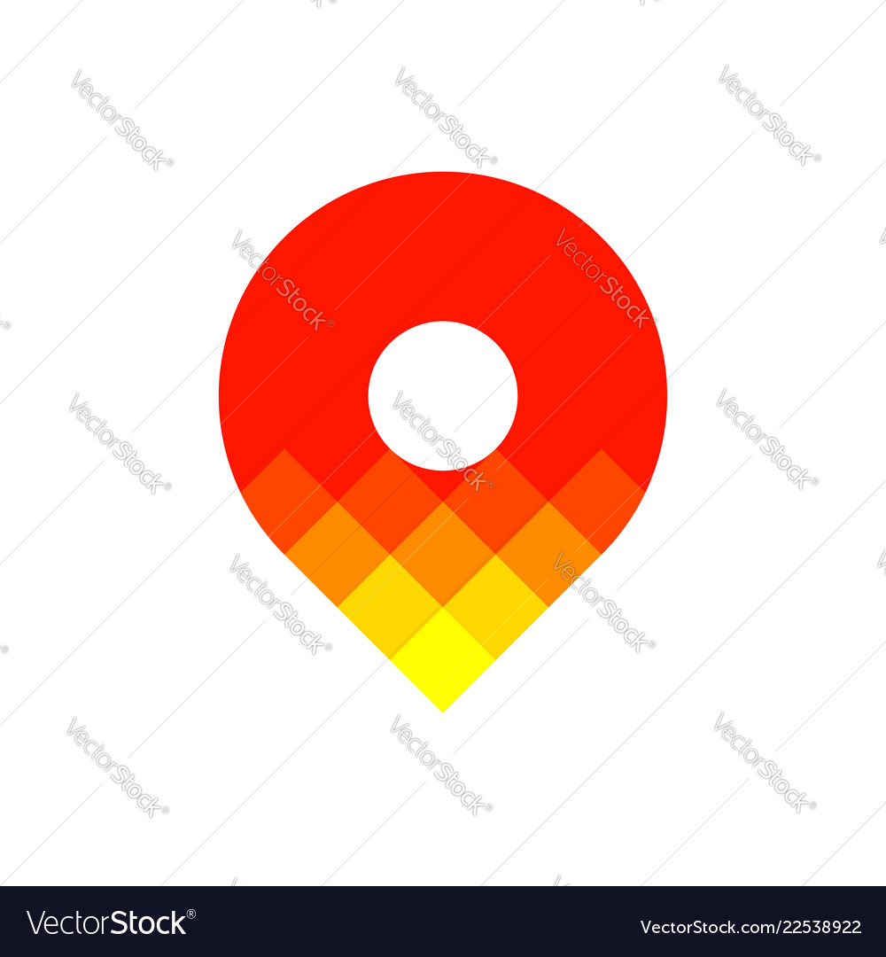 Logo template or icon of colorful map location pin
