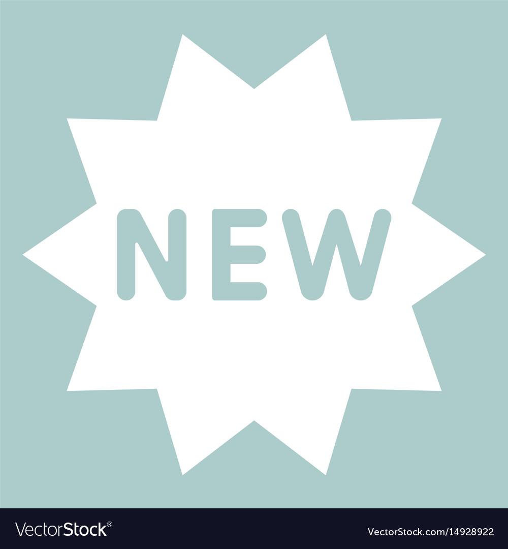New symbol the white color icon