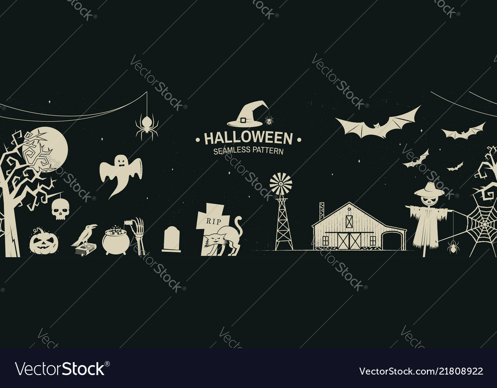 Seamless pattern for halloween celebration with
