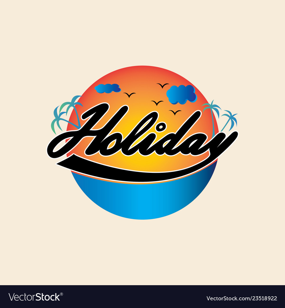 Summer holiday logo