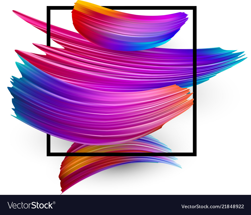 White background with colorful watercolor brush
