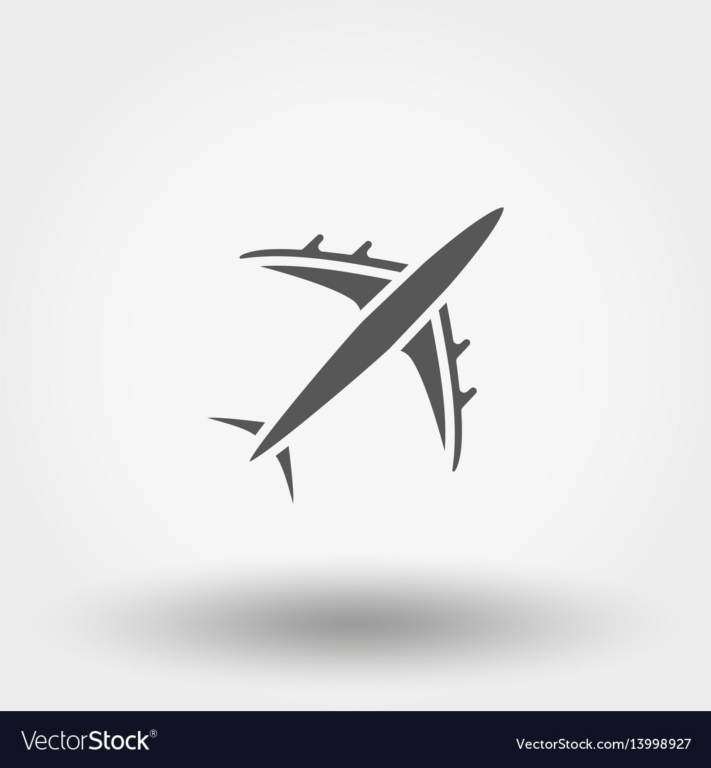 Aircraft icon vector image