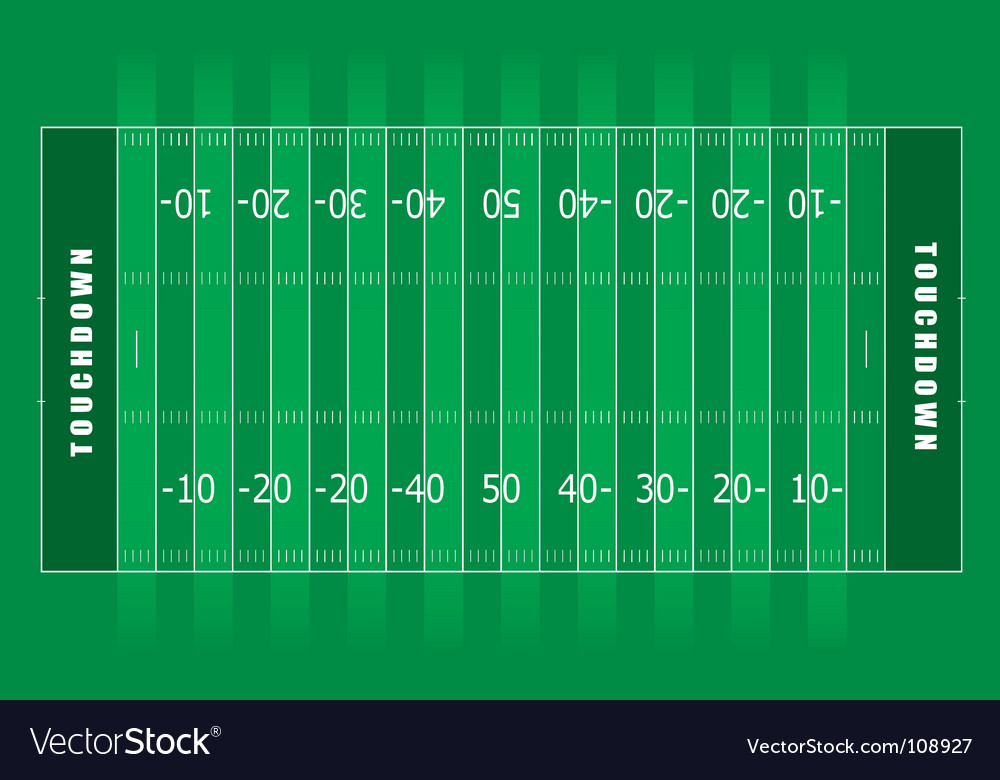 american football field royalty free vector image rh vectorstock com football field vector png football field vector png