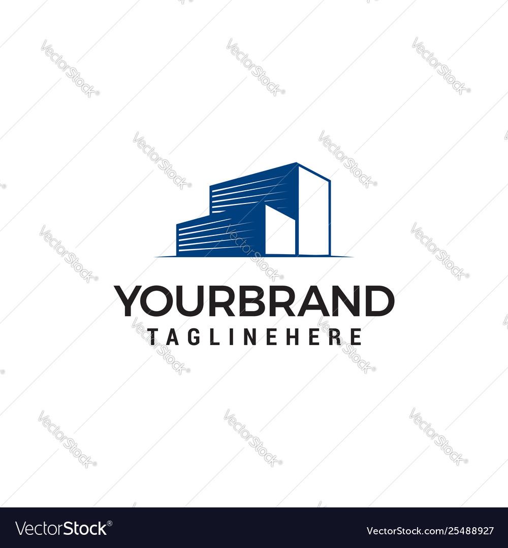 Building garage logo design concept template