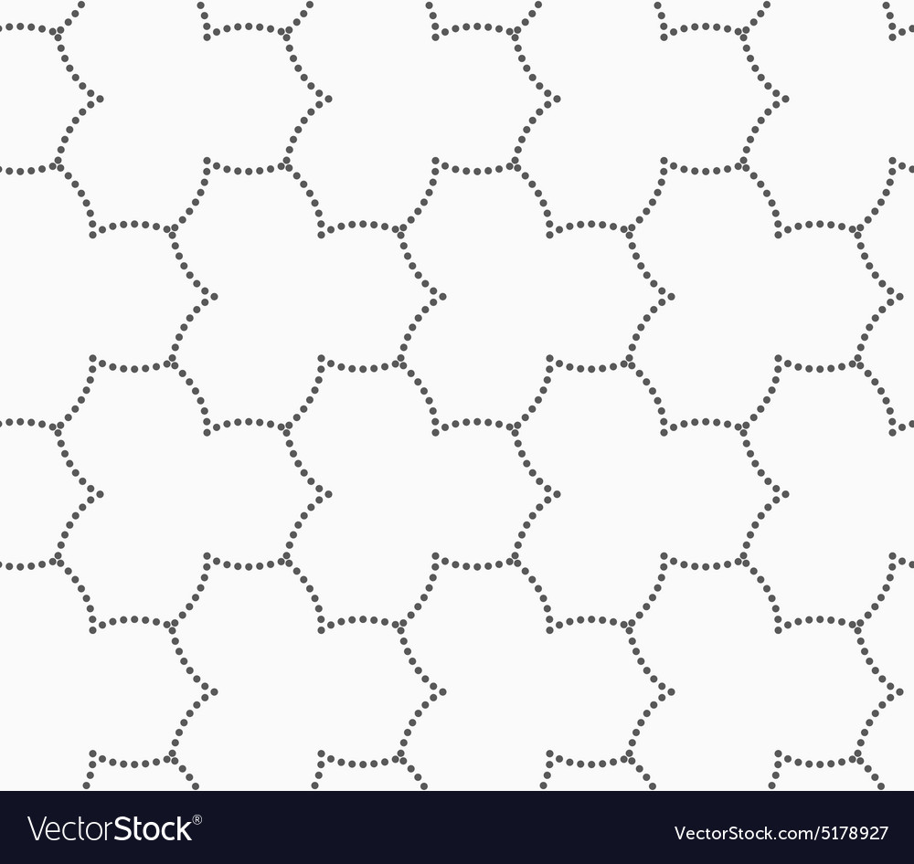 gray dotted three pedal pointy flower grid vector image