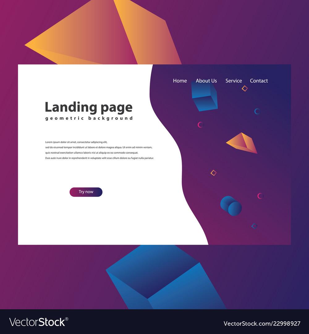 Modern trendy landing page
