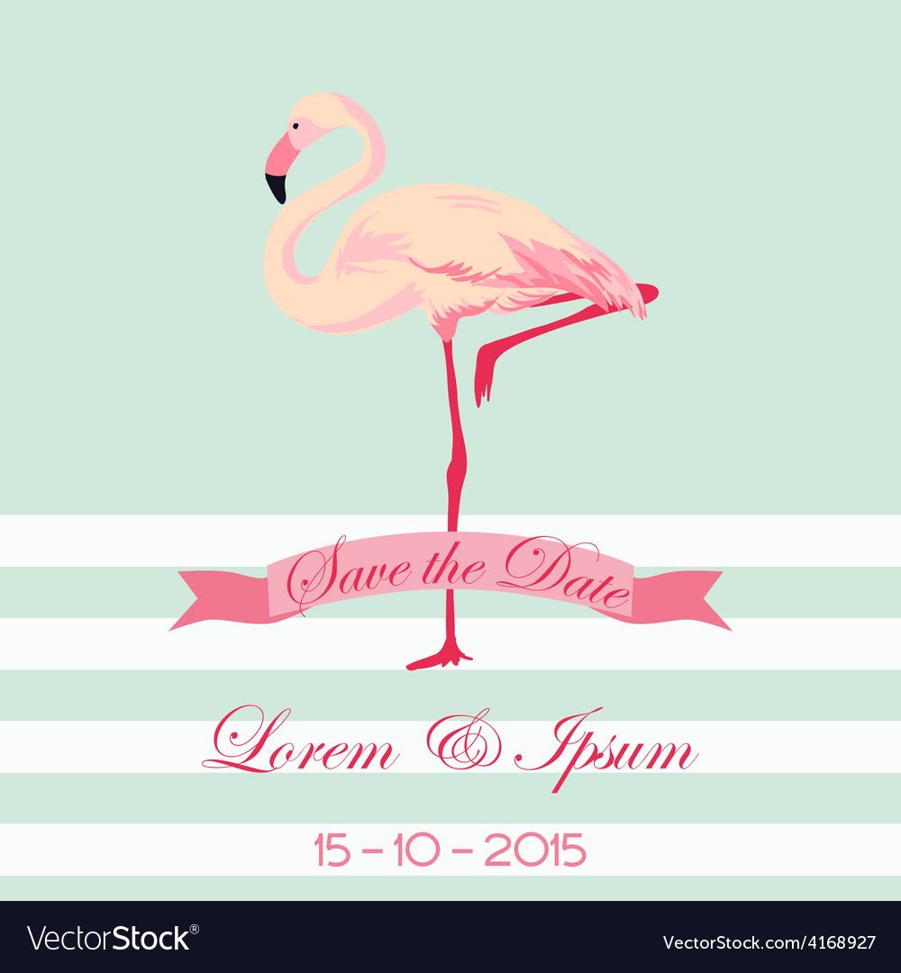 30 postcards Flamingo save the date
