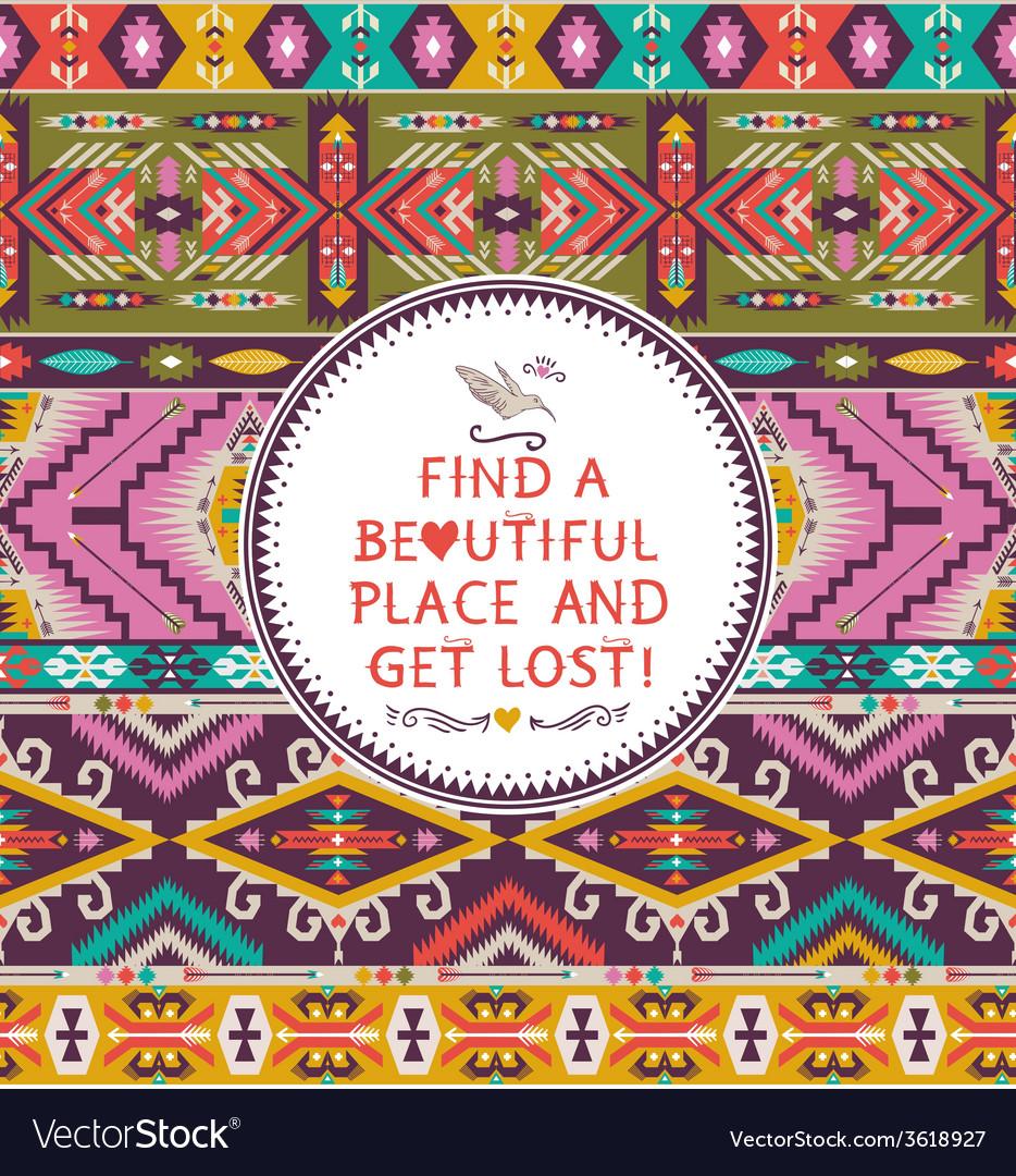 Seamless colorful decorative geometric pattern in