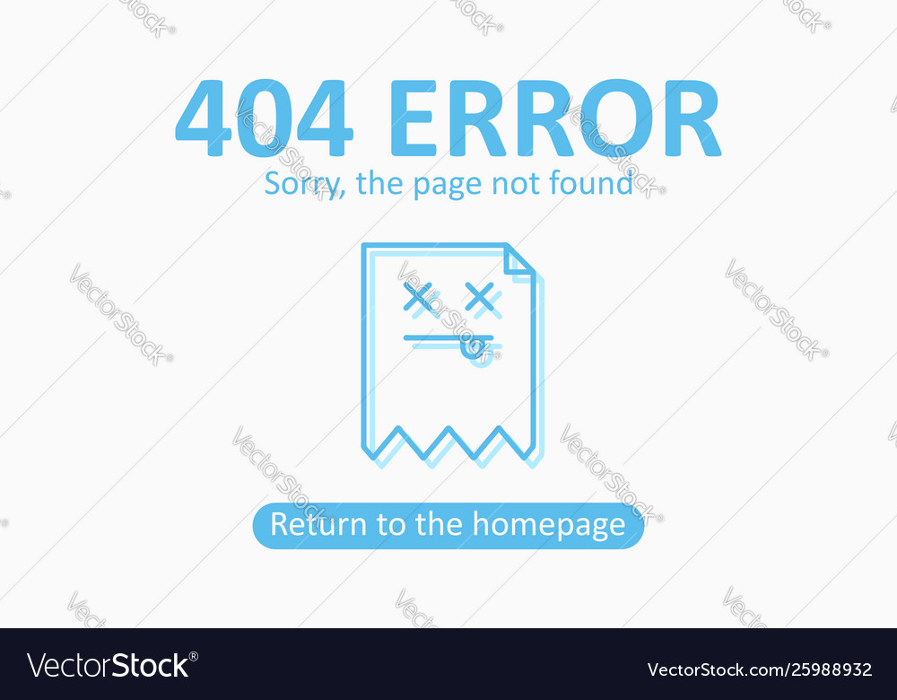 404 error page not found template with dead file