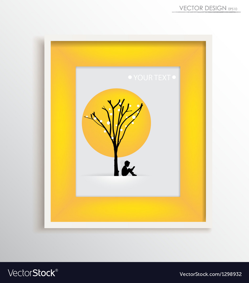 Abstract tree frame
