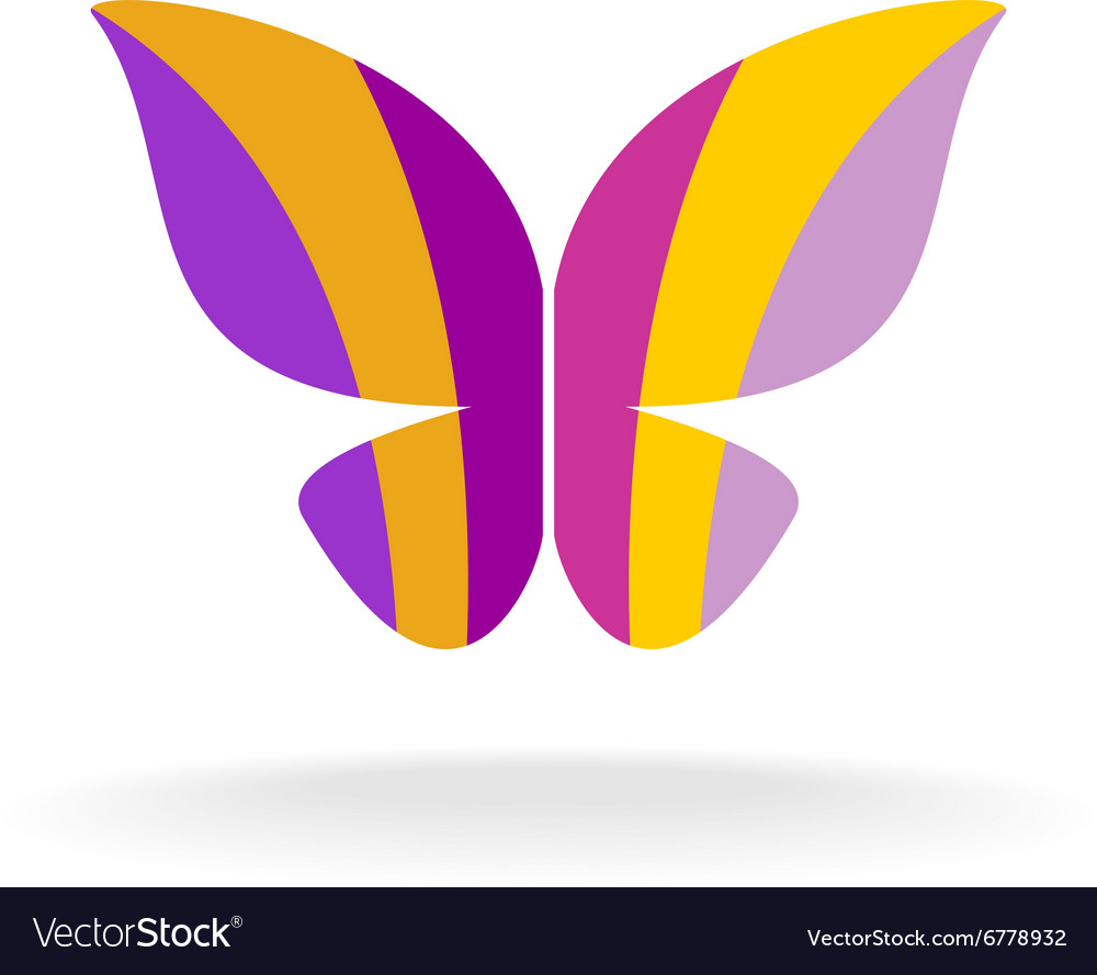 Butterfly colorful logo