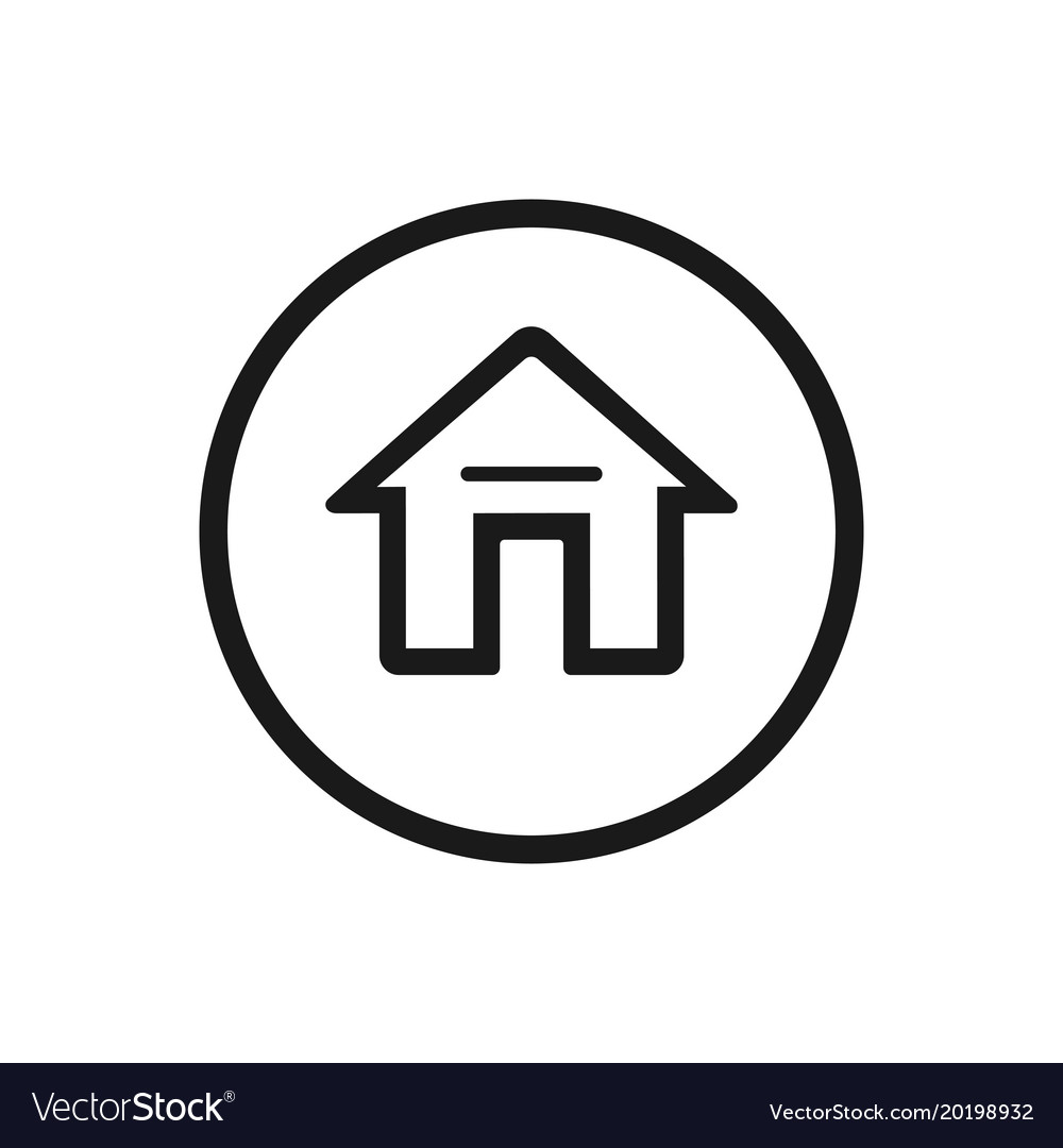 Home Icon On A White Background Royalty Free Vector Image