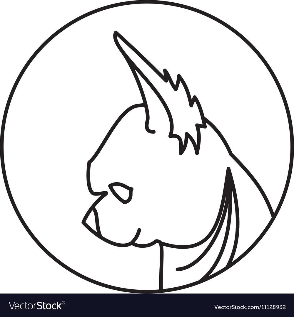Linear emblem with dog