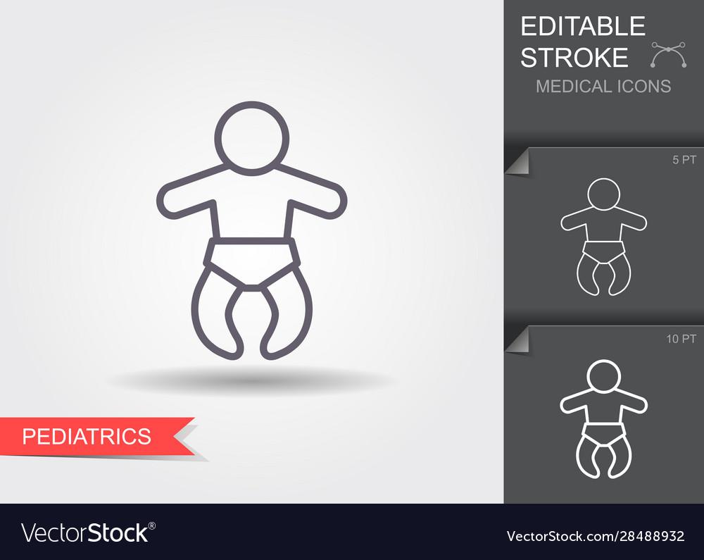 Newborn baline icon with editable stroke