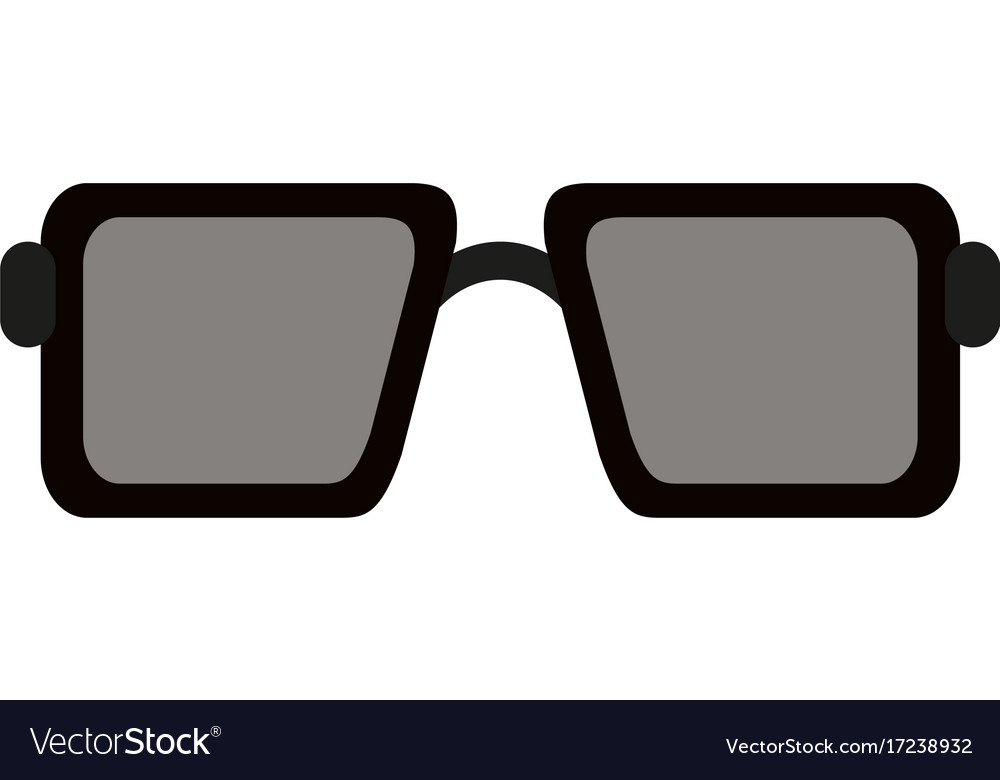 Sunglasses square frame icon image Royalty Free Vector Image