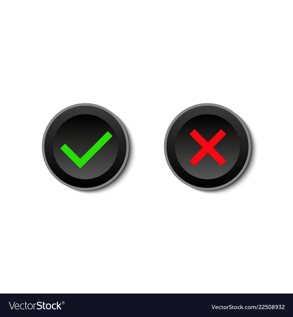 Yes and no buttons on white background yes or no
