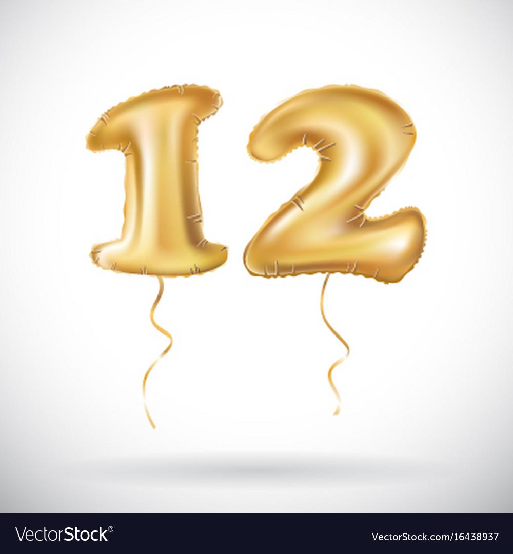 12 anniversary celebration with brilliant gold
