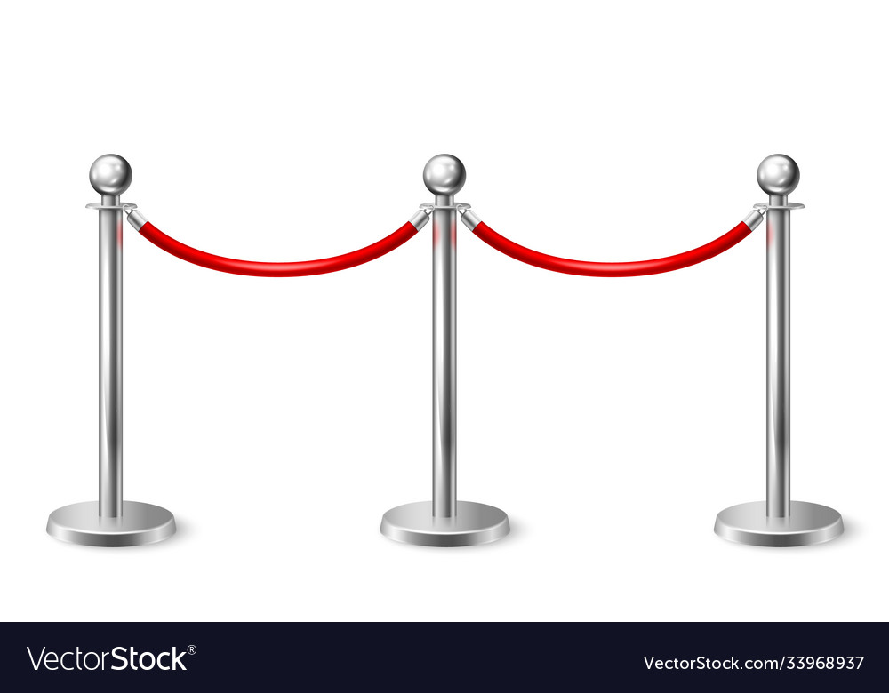 3d realistic fence for red carpet