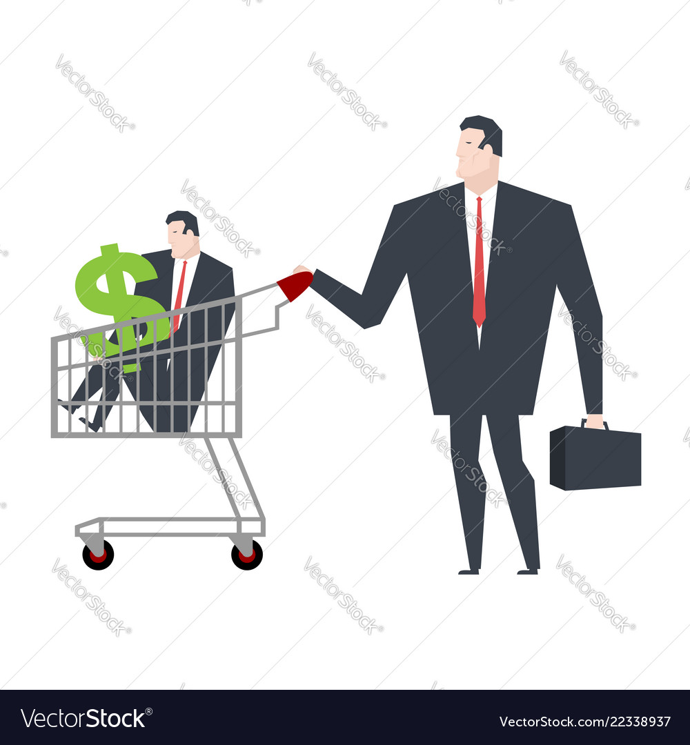 Business family in store go shopping manager in