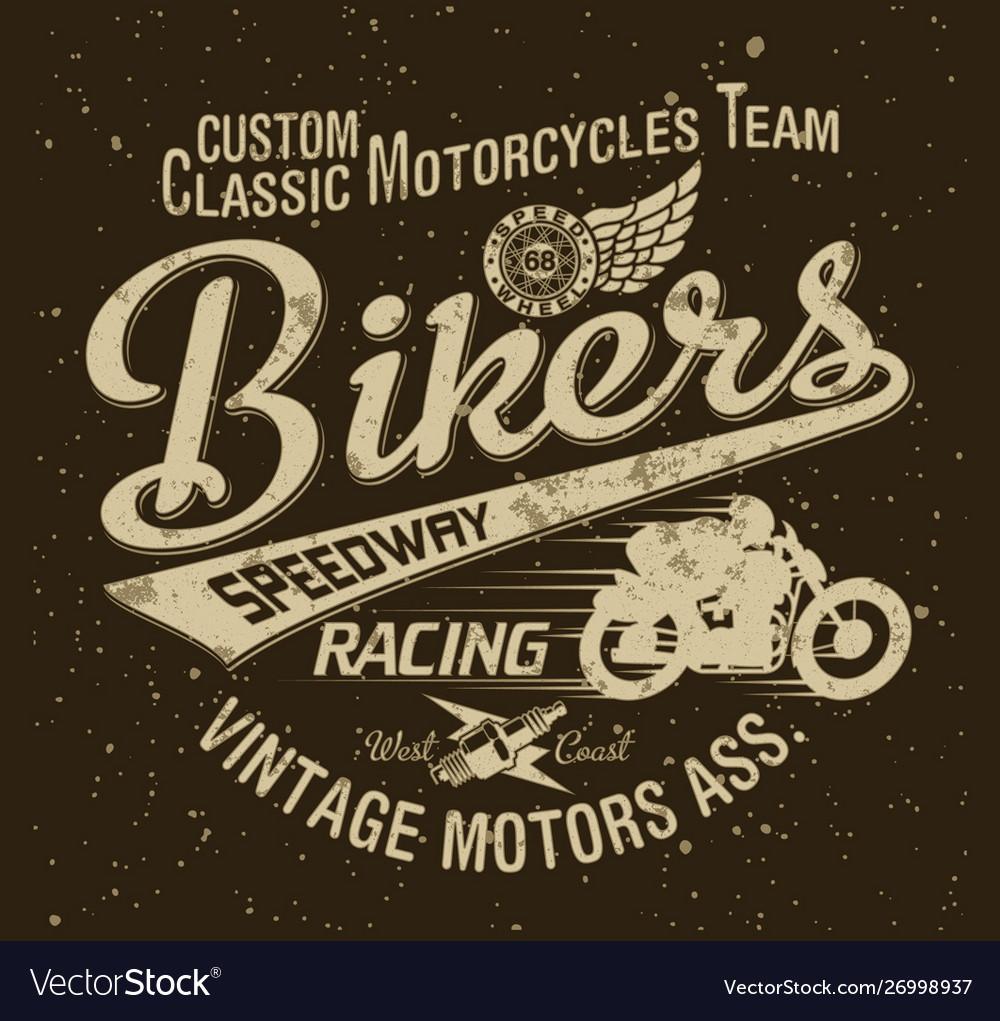 Classic vintage motorcycle racing team