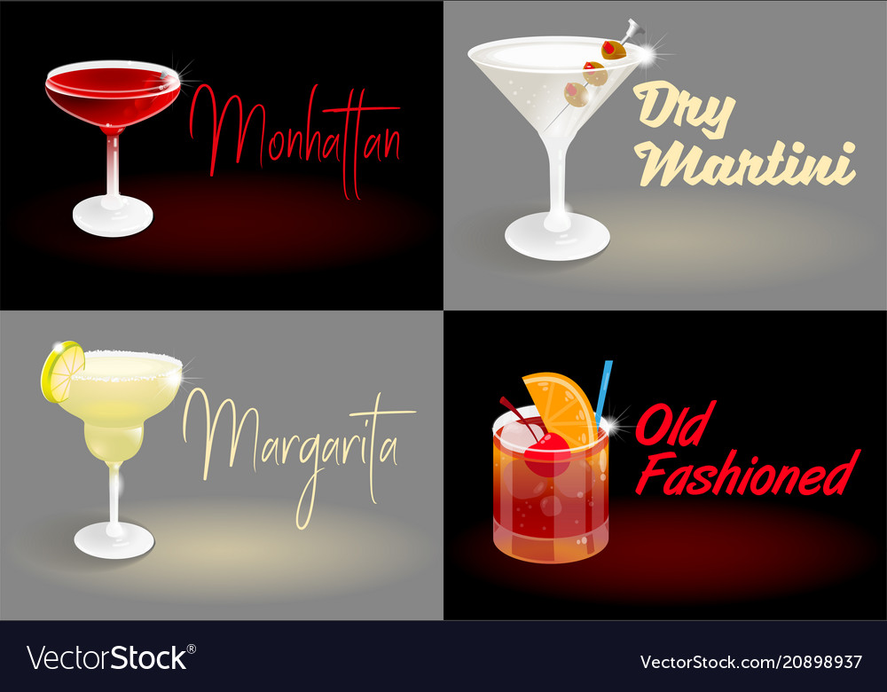 Cocktail set posters