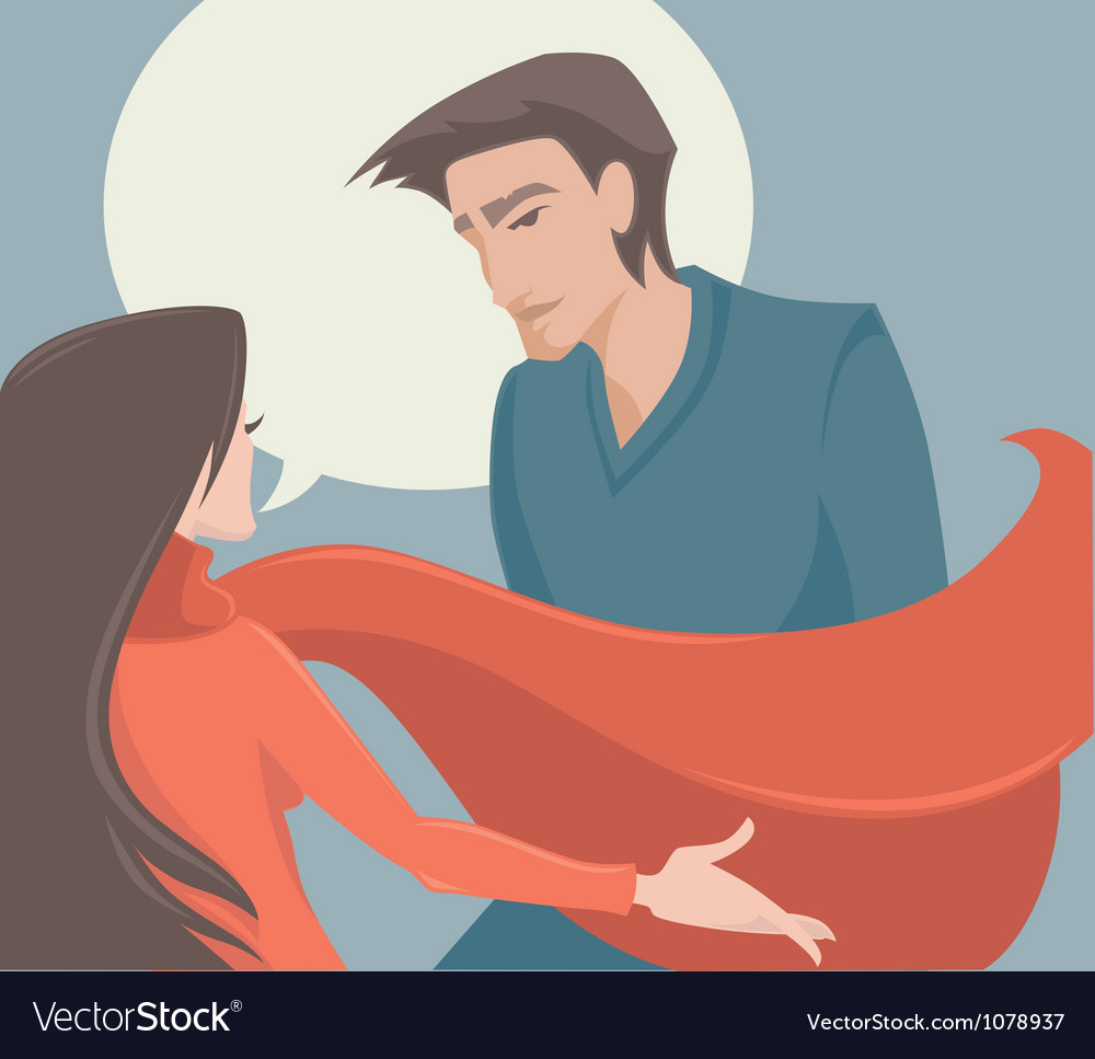 Couple man and woman vector image