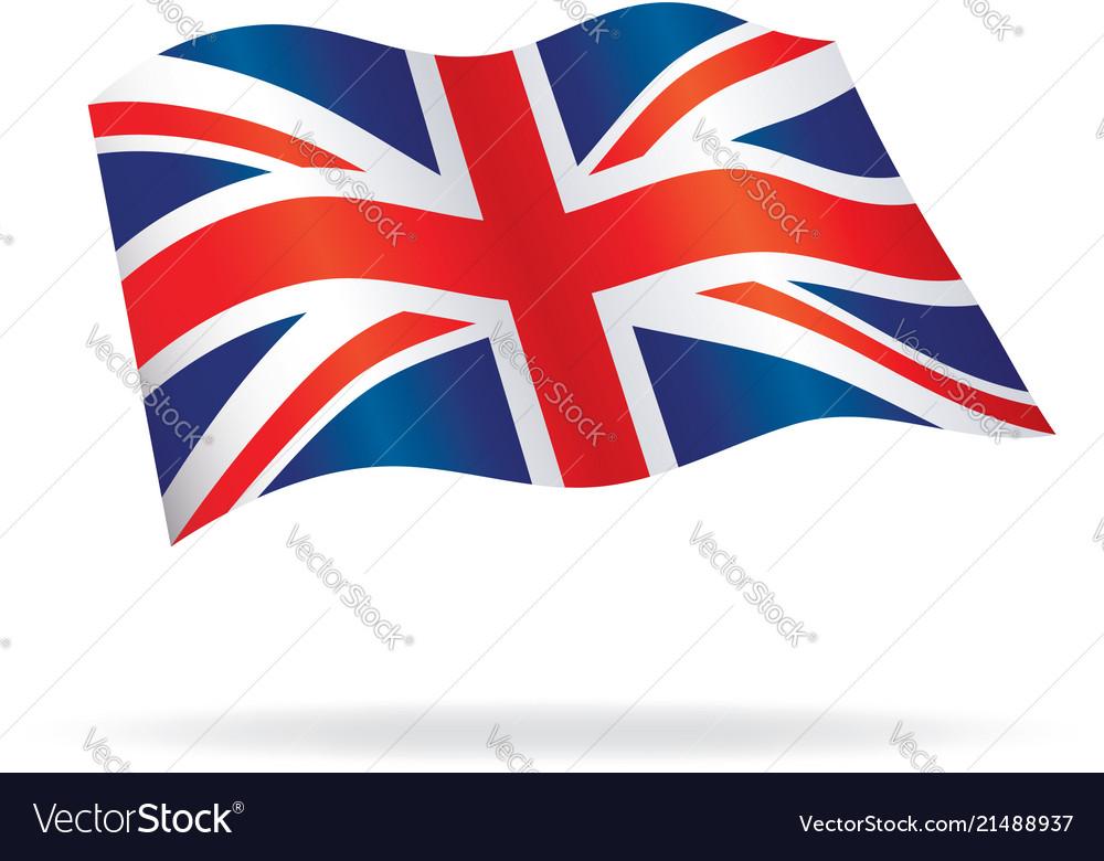 flowing united kingdom union jack flag royalty free vector  vectorstock