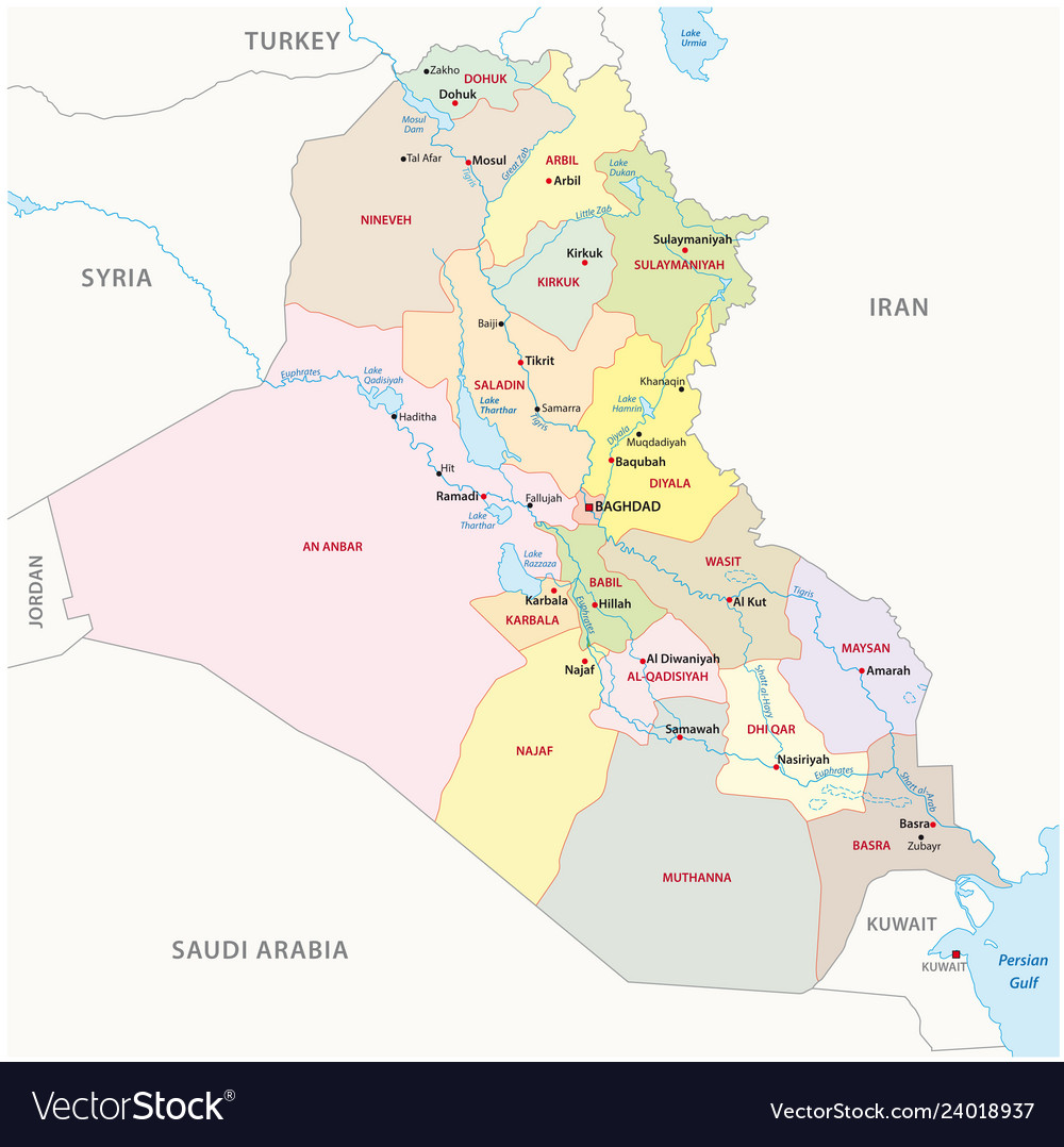 Iraq administrative divisions map