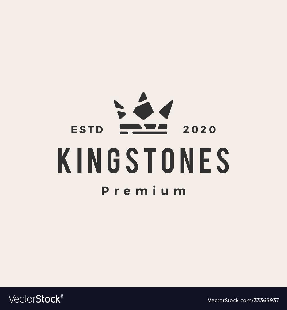 King stones hipster vintage logo icon