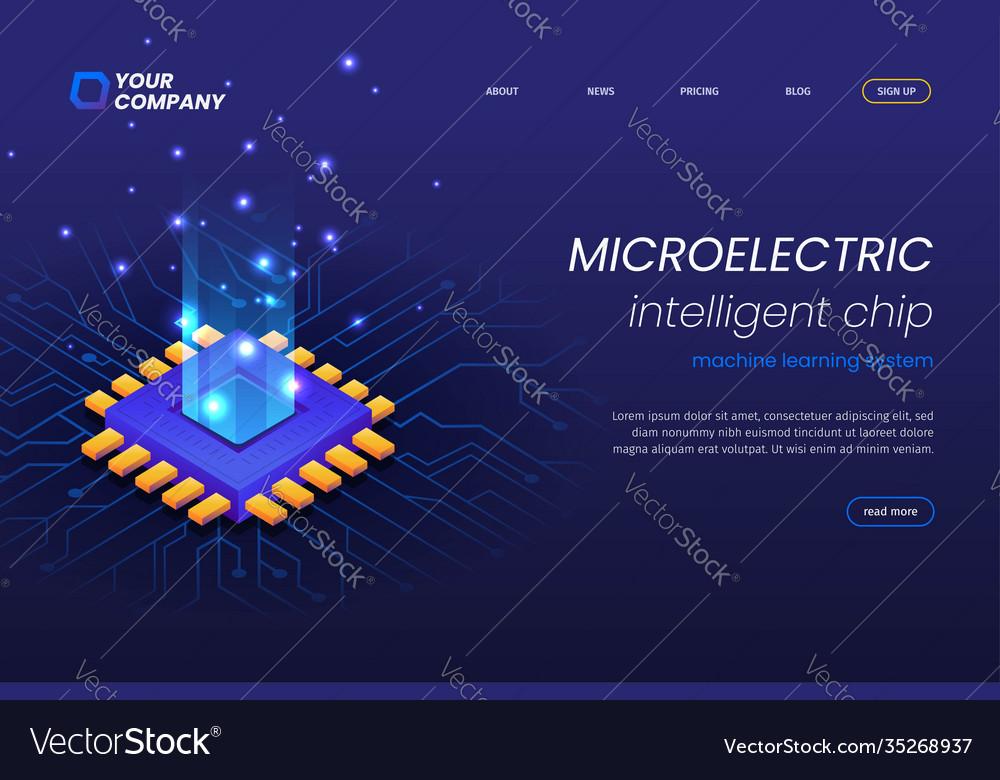 Micro electronics circuits landing page template