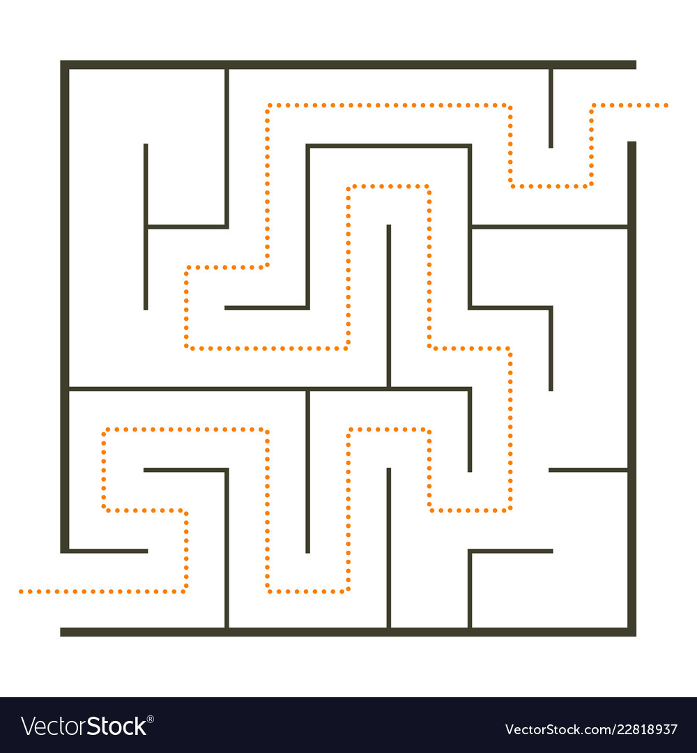 Simple maze Royalty Free Vector Image - VectorStock
