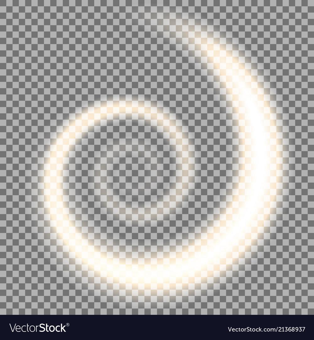 Spiral of light golden color