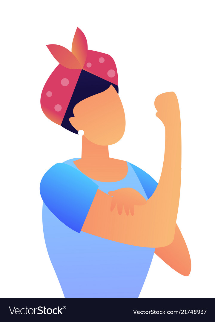 Woman showing biceps