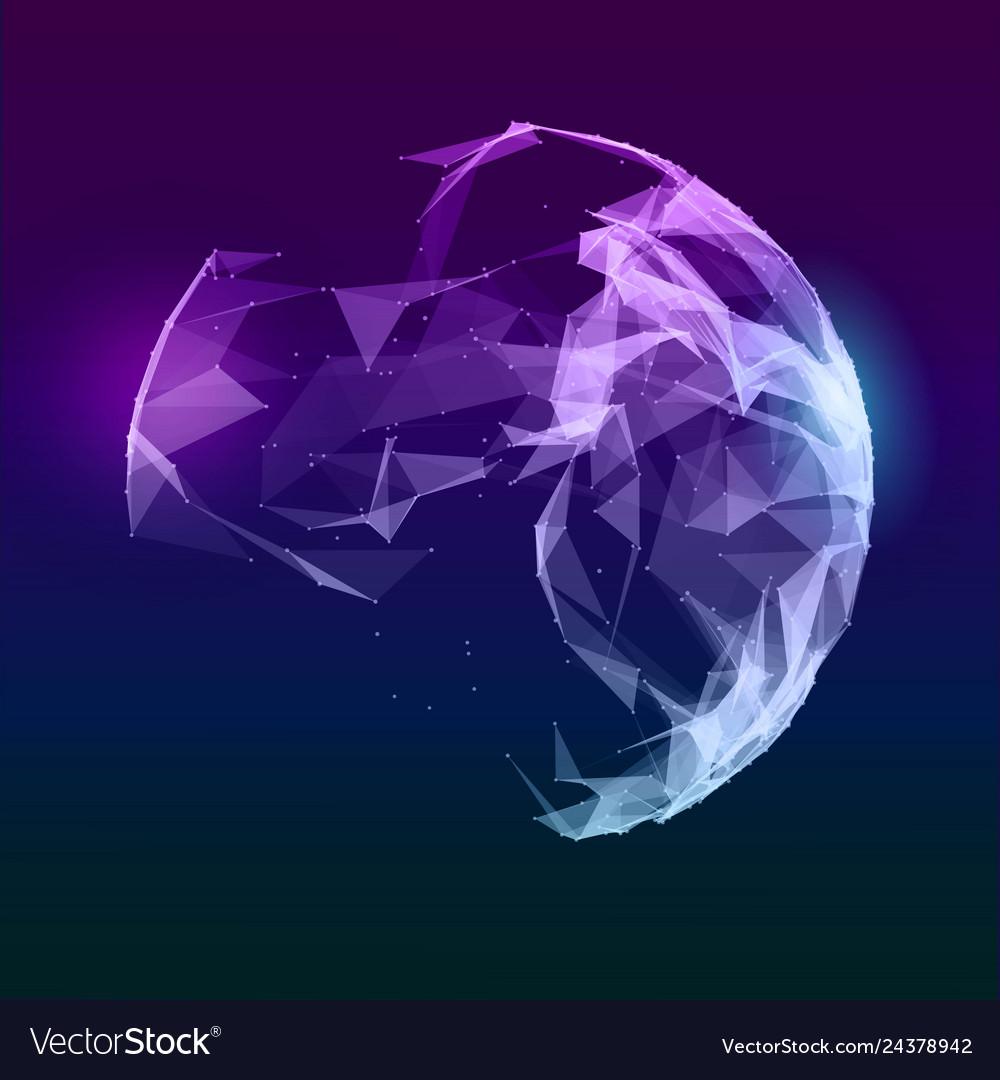 Abstract music sphere futuristic techno
