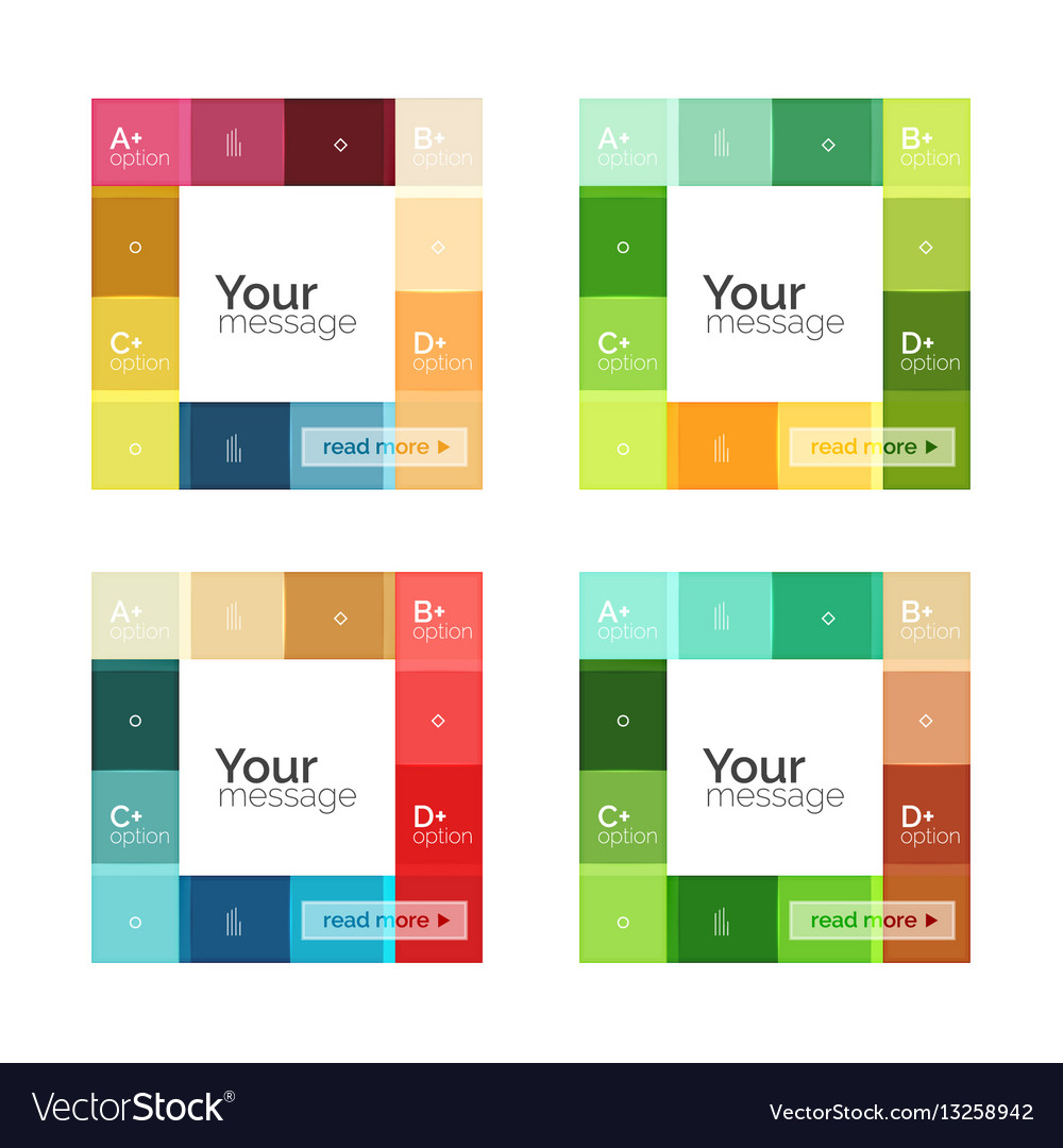 Color Stripes Infographics Templates Royalty Free Vector