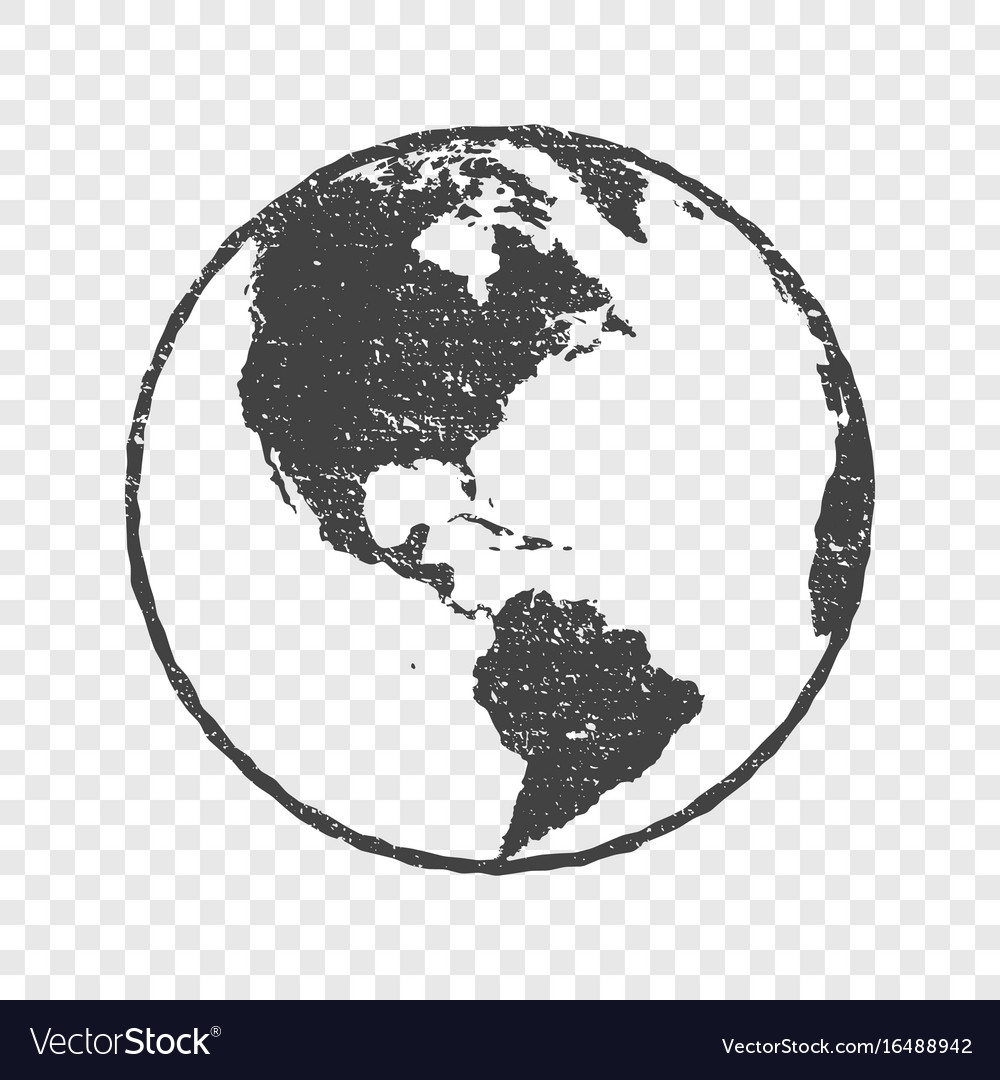 Grunge texture gray world map globe transparent vector image gumiabroncs Choice Image