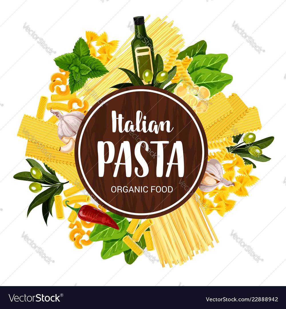 italian pasta restaurant menu cover royalty free vector