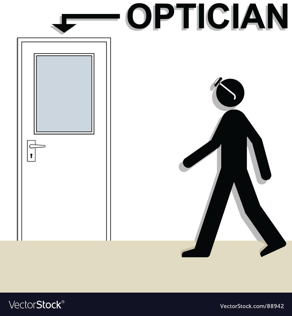 Optician vector image