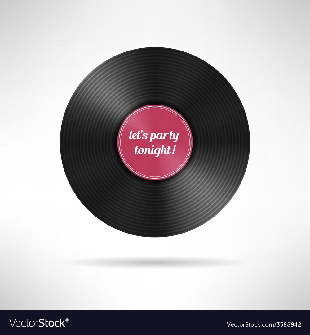 Realistic vinyl disc record Vintage music