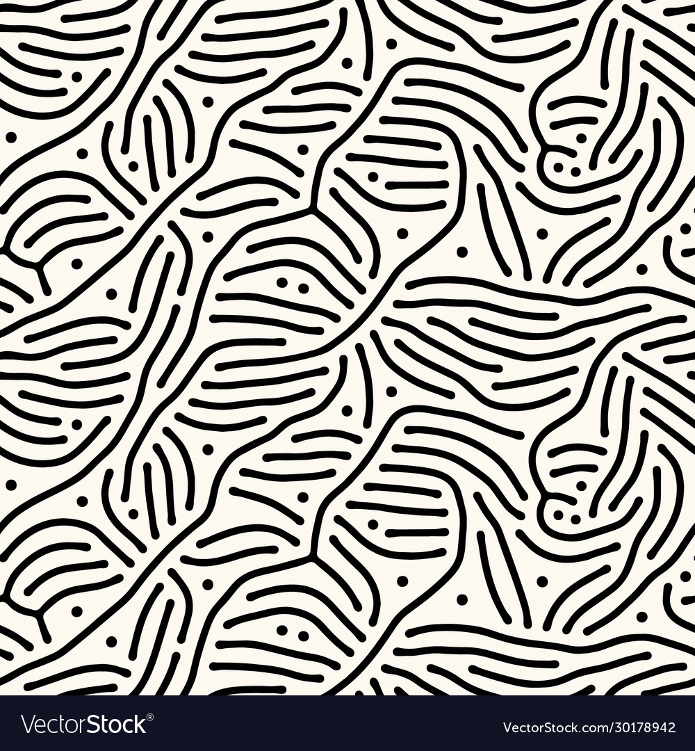 Seamless abstract pattern with lines and
