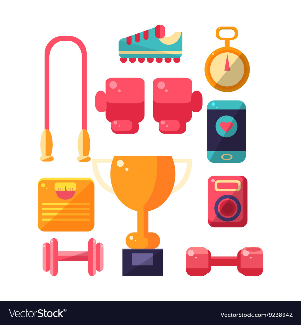 Sports Inventory Items Set vector image