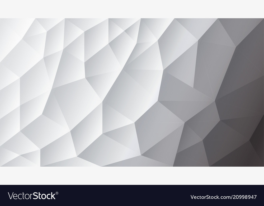 Abstract triangulated background white