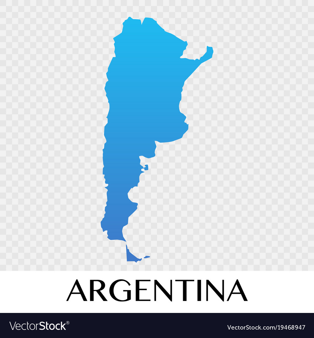 Argentina map in south america continent design