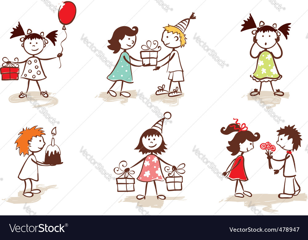 Children celebrate birthday