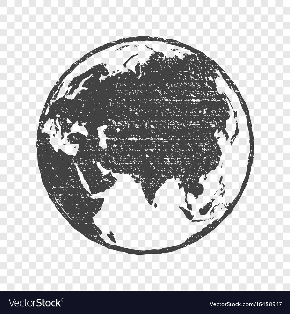 Grunge texture gray world map globe transparent vector image gumiabroncs Images