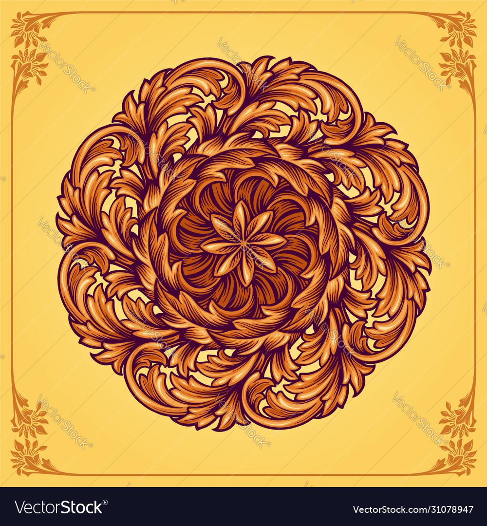 Luxury ornamental floral mandala
