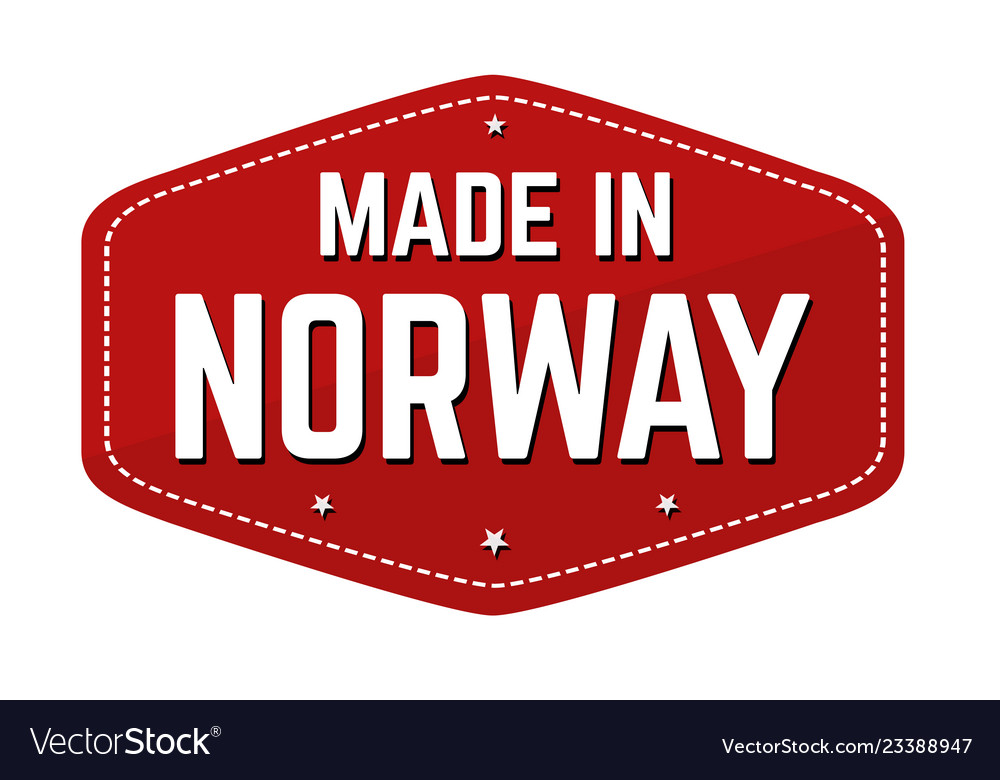 Made in norway label or sticker