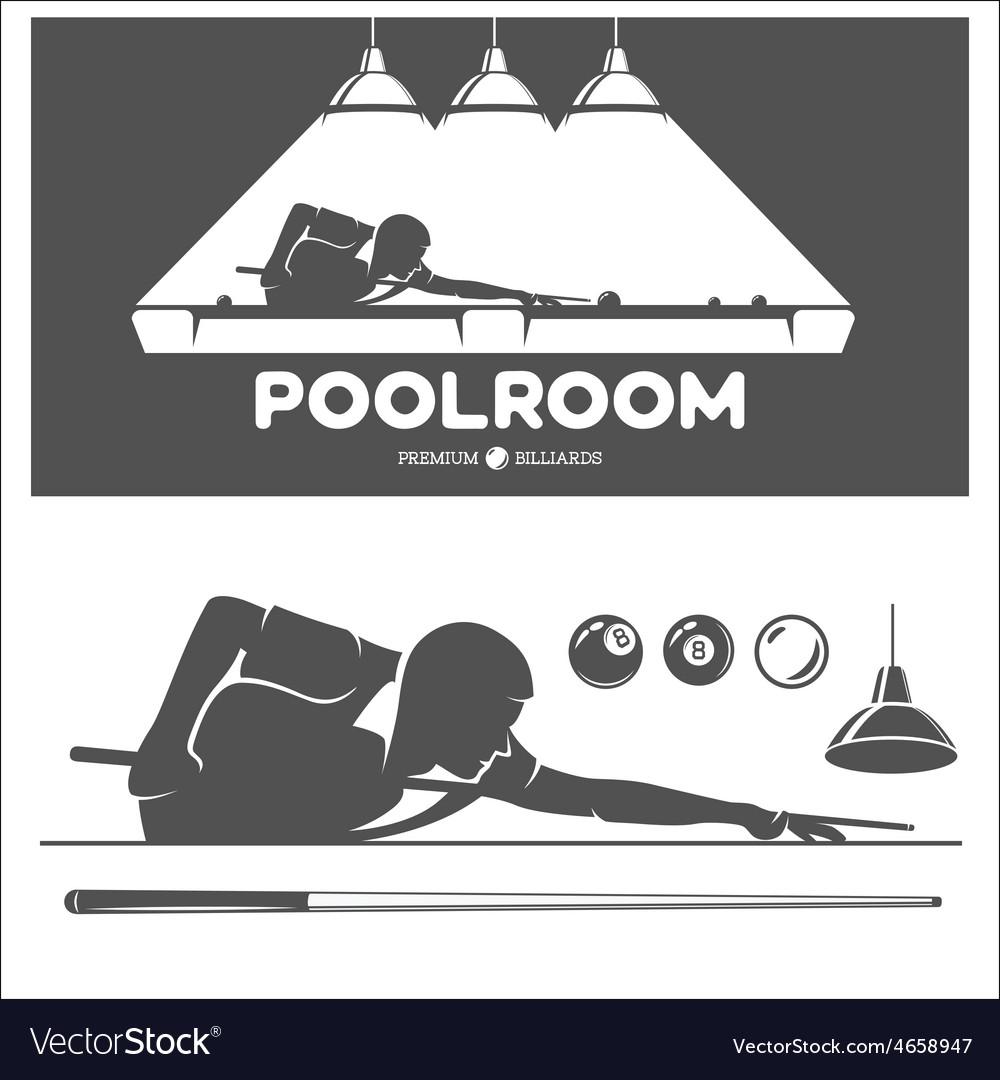 Poolroom set