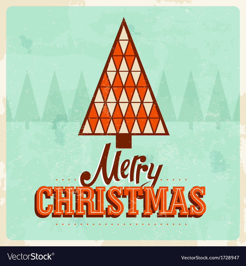 Retro christmas card 2a Royalty Free Vector Image